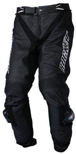Joe Rocket Mens Speedmaster 5.0 Leather Motorcycle Pants Black 42