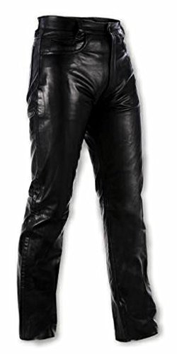 Mens Jeans Pants Trousers Cruiser Apparel Motorcycle Soft Leather Bikers 36