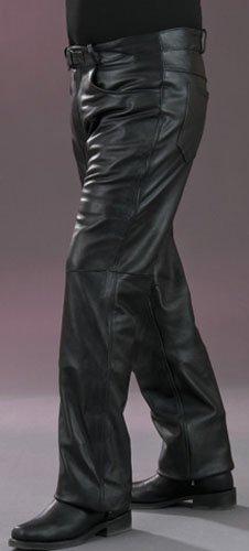 Mossi Inseam Men's Leather Pants (black, Size 34)