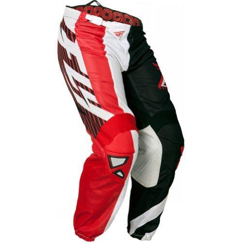 Fly Racing Kinetic Mesh Men's Off-road/dirt Bike Motorcycle Pants - Red/black / Size 34