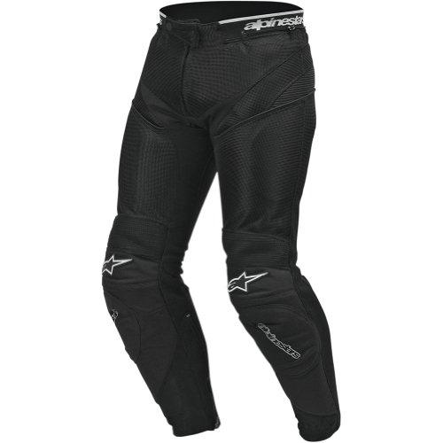 Alpinestars A-10 Air Flo Men's Textile Street Racing Motorcycle Pants - Black / Size 50