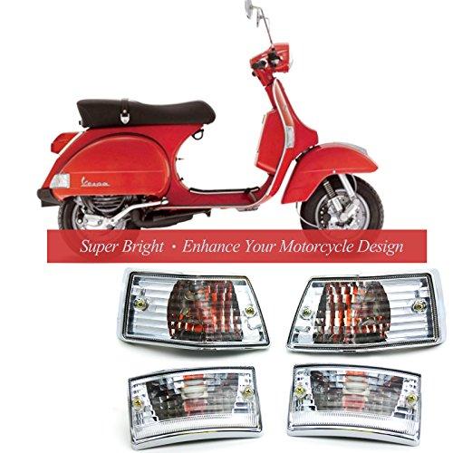 BSK Turn Signal Light Blinker Indicator Light E-Mark for Vespa PX 125 150 200 LML Star VSX VNX Stella V8311 V8029  1 set of 4