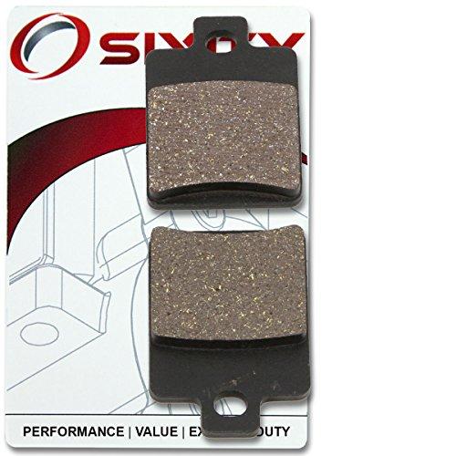 Sixity Front Organic Brake Pads 2001-2004 Vespa ET4 Set Full Kit 150cc Complete