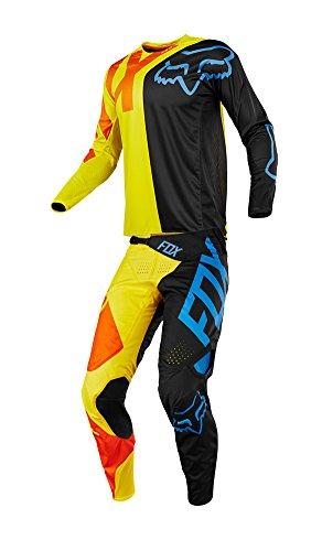 Fox Racing 2018 360 Preme Combo Jersey Pants Adult Mens MX ATV Offroad Dirtbike Motocross Riding Gear BlackYellow