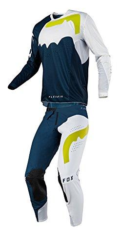 Fox Racing 2018 Flexair Hifeye Combo Jersey Pants Mens ATV MX Offroad Dirtbike Motocross Riding Gear NavyWhite
