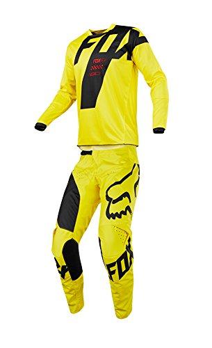 Fox Racing 2018 Youth 180 Mastar Combo Jersey Pants ATV UTV MX Dirtbike Offroad Motocross Riding Gear Yellow