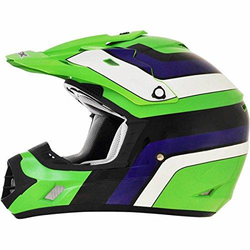 AFX FX-17 Vintage Kawasaki Factor Mens Motocross Helmets - 2X-Large