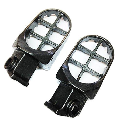 HTT Motorcycle Gunmetal Black MX Racing Footpegs For KTM 50 65 125 250 300 360 SX 525SX 400 520SX EX-C MXC