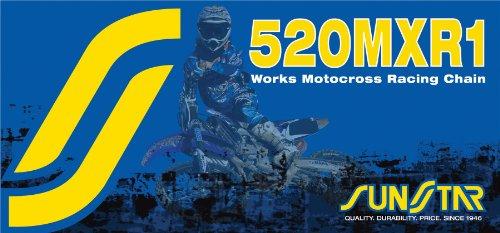 Sunstar 520 Works MX Racing Chain 120 Links Gold for Hon Husa Husq Kaw Suz Yam