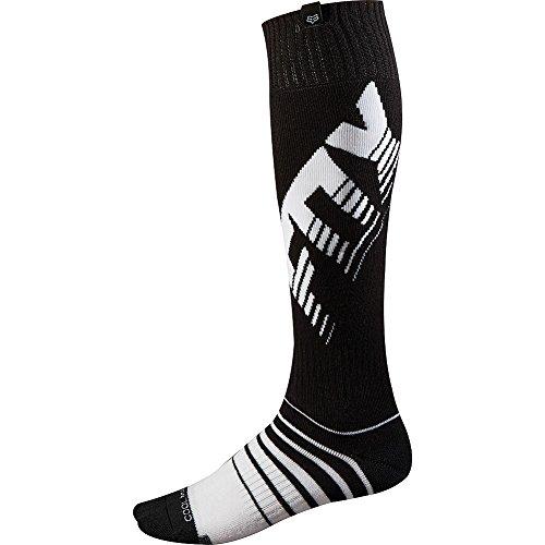 Fox Racing Coolmax Thick Savant Men's Motocross Motorcycle Socks - Black / Medium