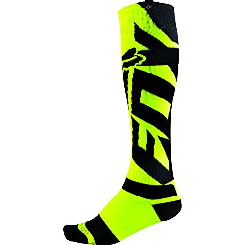 Fox Racing Coolmax Thick Shiv Men's Motox Motorcycle Socks - Yellow / Large