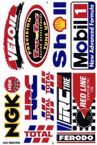 Sponsor Motocross Racing Tuning Motorbike Decal Sticker Sheet C219
