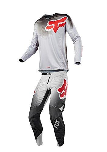 Fox Racing 2018 360 Viza Combo Jersey Pants Adult Mens MX ATV Offroad Dirtbike Motocross Riding Gear Gray