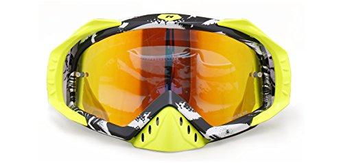NENKI Goggles NK-1023 Motocross Goggles Camouflage BlackMirror Lens