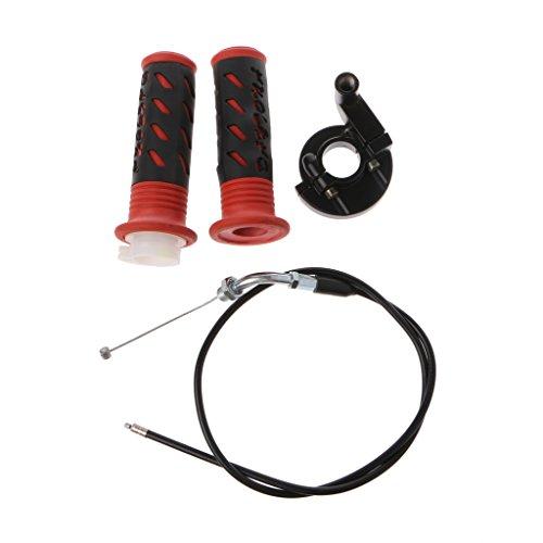 Bottone Twist Throttle Accelerator Grip Cable For 47cc 49cc Mini Dirt Bike Quad Pocket