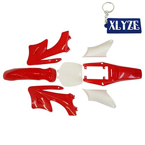 XLYZE Red-Plastic Fender Kit For Chinese 2 Stroke 47cc 49cc Apollo Orion Mini Dirt Bikes