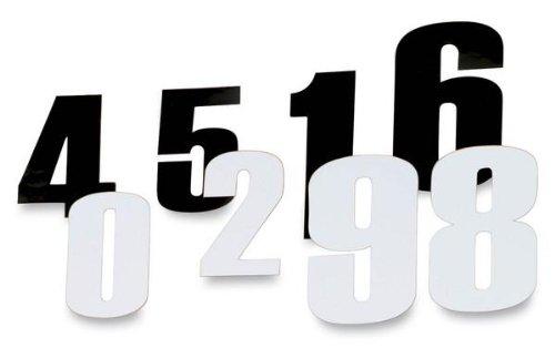 Moose Racing 45 Race Numbers - 8Black