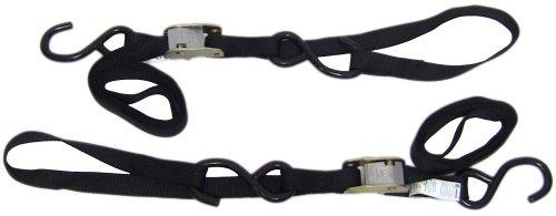 Ancra 49380-11-02 Black Integra Soft Hook Cam Buckle Tie Down 4 Pack