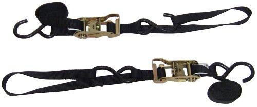 Ancra 49498-11-02 Black Integra Soft Hook Ratcheting Tie Down 4 Pack