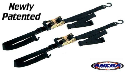 Ancra 49970-102-02 Black Big Bike Gradual Release Ratcheting Integra Tie Down 4 Pack