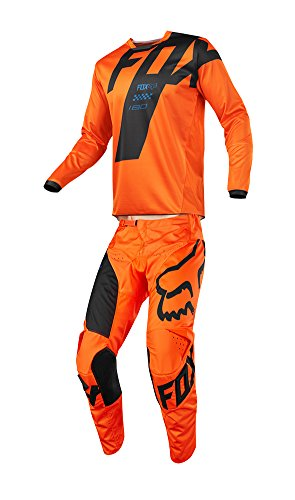 Fox Racing 2018 180 Mastar JerseyPants Adult Mens Combo Offroad MX Gear Motocross Riding Gear Orange
