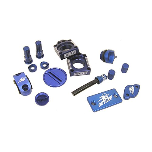 Outlaw Racing Complete Billet MX Motocross Kit Blue Suzuki RMZ 250 RMZ 450