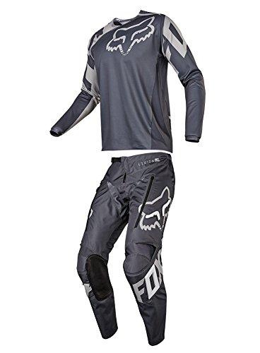 Fox Racing 2018 Legion LT Offroad Combo Jersey Pants Charcoal Mens ATV Dirtbike Motocross Riding Gear Charcoal