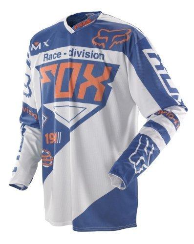 2014 Fox 360 Intake Motocross Jerseys - BlueWhite - Medium
