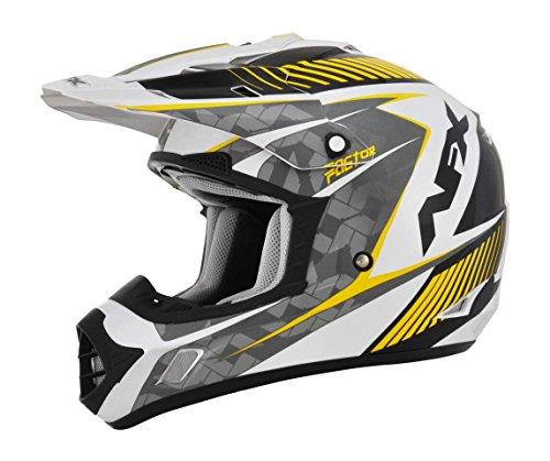 AFX FX-17 Factor Mens Motocross Helmets - WhiteYellow - X-Small