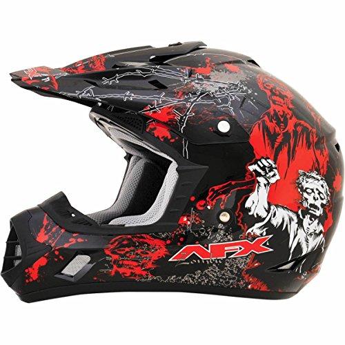 AFX FX-17 Zombie Mens Motocross Helmets - BlackRed - Small