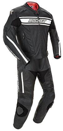 Joe Rocket Blaster X Men's 2 Piece Leather Race Suit Black/white 52