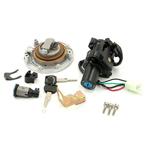 Alpha Rider Ignition Switch Fuel Gas Petrol Tank Cap Cover Lock Key Set for Honda CBR250R 2011-2012 CBR600 F4 1999-2000 CBR600 F4i 2001-2006