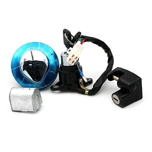 Alpha Rider Ignition Switch Lock Fuel Gas Cap Cover Helmet Lock Seat lock Keys Set For Honda CMX250 Rebel 1985-2015 CA125 1995-1999