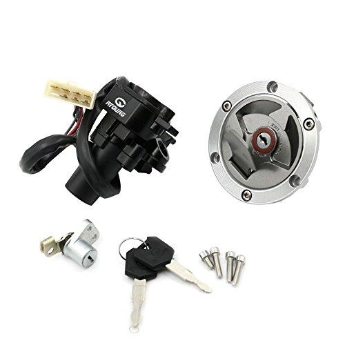 Alpha Rider Ignition Switch Lock Fuel Gas Cap Cover Seat Lock Keys Set For Kawasaki Ninja 250R EX250J SE 2012  Ninja 250R EX250J 2008-2012
