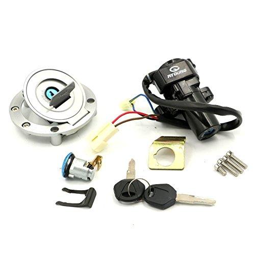 Alpha Rider Ignition Switch Lock Fuel Gas Cap Cover Seat Lock Keys Set For YAMAHA YZF R1 2002-2003 YZF R6 600 2006-2011