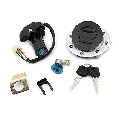 Alpha Rider Ignition Switch Lock Fuel Gas Cap Cover Seat lock Keys Set For Suzuki GS500 GS 500 2001 - 2010