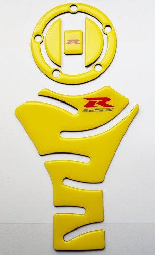 Glossy yellow Tank Protector Pad  fuel gas cap cover trim for Suzuki GSX-R GSXR GSX R 1000 750 600