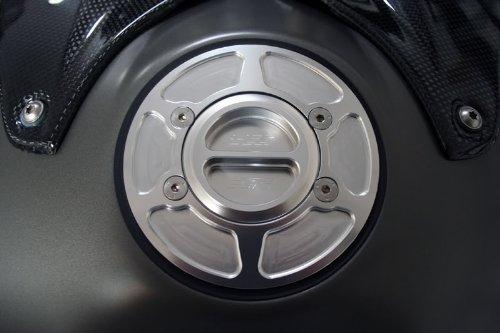 BMW F650GS F700GS F800GS F800R F800S F800ST K1600GT K1600GTL R1200GS Adventure R1200R R1200S S1000RR R Nine T Silver Anodized CNC Billet Aluminum Race Fuel Petrol Gas Cap Lid