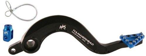 Hammerhead Designs Rear Brake Pedal Lever Kit - Large Aluminum Brake Tip - Blue Yzfrbpl