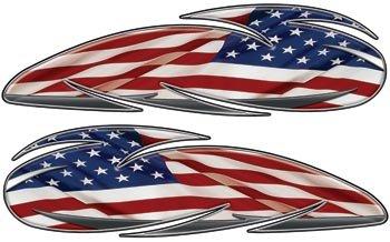 American Flag Custom Motorcycle Gas Tank Graphics