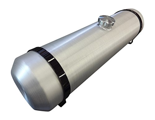 10x33 Center Fill Round Spun Aluminum Gas Tank - 11 Gallon - Dune Buggy Offroad Sandrail Trike - 38 NPT - Made in the USA