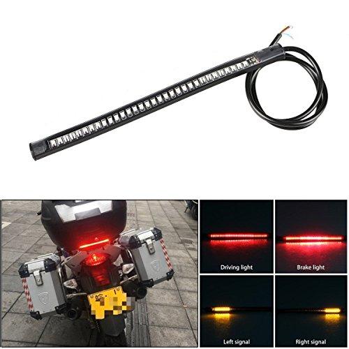 48 LED Motorcycle Light Strip Kit LinkStyle Flexible Led Tail Running Brake Stop Turn Signal Light Strip Bar