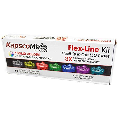 KapscoMoto Motorcycle 7 Color LED Accent Light Kit Remote For Honda CBR 250R 929 954 RR