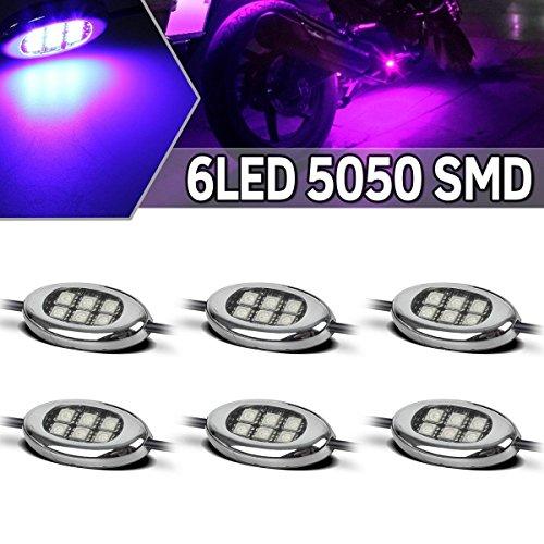 Partsam Universal LED Motorcycle Lights Glow Kit for Harley Davidson - Purple 36SMD w Switch