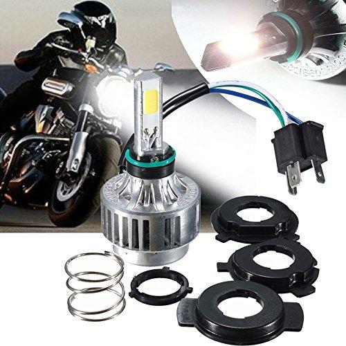 Motorcycle Headlights AMBOTHER H4 LED Headlight HiLo Beam 360° 3-Side COB Head DRL Fog Replacement Conversion Light Retrofit Kit Headlamp Lamp Bulb 32W 3000LM12V HID White 6000K