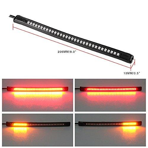 Motorcycle Light Strip Prime Autobots 32 SMD LED Flexible Turn Signal Brake Strip Light and Tail Light ADP32