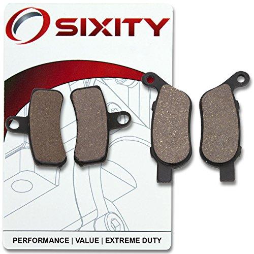 Sixity Front  Rear Organic Brake Pads 2008-2010 Harley Davidson FXSTC Softail Custom Set Full Kit Spoke wheel Complete