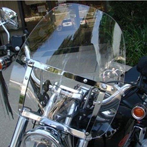 Motorcycle Clear Windscreen Windshield for Harley Davidson Sportster Dyna Glide Softail Honda Kawasaki Suzuki Yamaha Cruiser Savage Intruder Volusia Boulevard Vulcan Vn