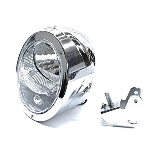 Krator Custom Chrome Concept Headlight Head Light for any Harley Honda Yamaha Suzuki Kawasaki Custom Bike Cruiser Choppers