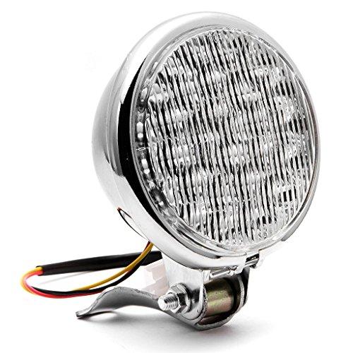 Krator 5 Chrome LED Headlight w Light Mounting Bracket for Kawasaki Eliminator BN 125 250 600 900
